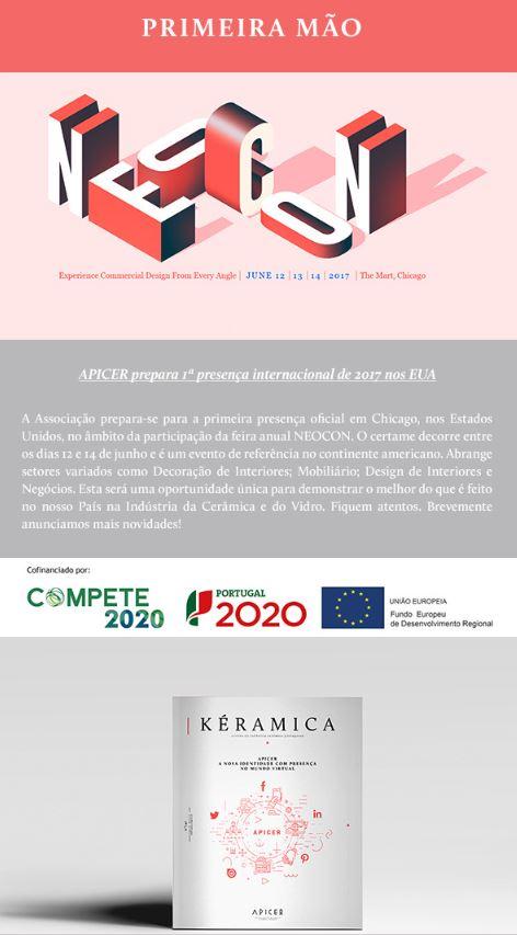 Newsletter Abril 2017 , APICER prepara 1ª Internacionalização de 2017 nos EUA