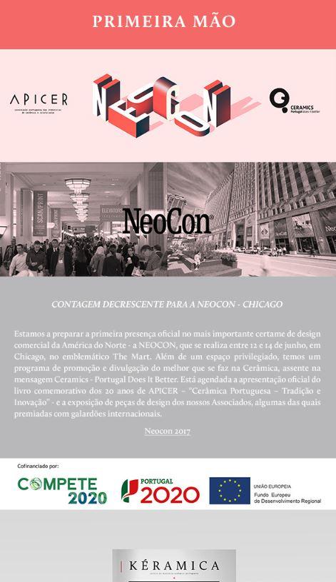 Newsletter Maio 2017 , Contagem decrescente para a Neocon em Chicago