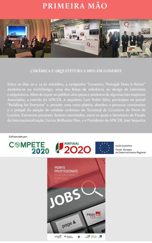 Newsletter Outubro 2017 , Cerâmica e Arquitetura a 100% em Londres * Acordo Revisão Contrato Coletivo de Trabalho