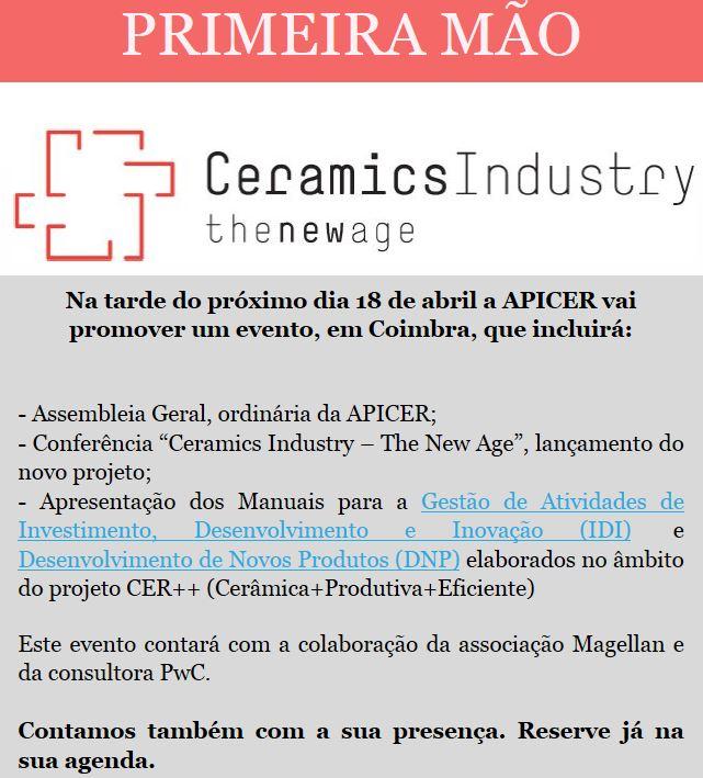 Newsletter Março 2018 , Ceramics Industry