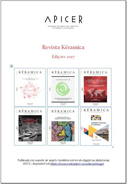 """Índice Anual da revista """"Kéramica"""" em 2017 , 2017"""