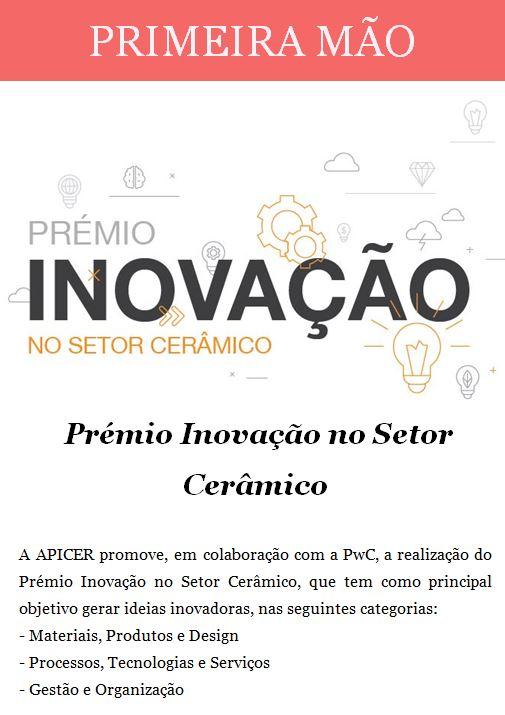 Newsletter Junho 2018 , Prémio Inovação no Setor Cerâmico