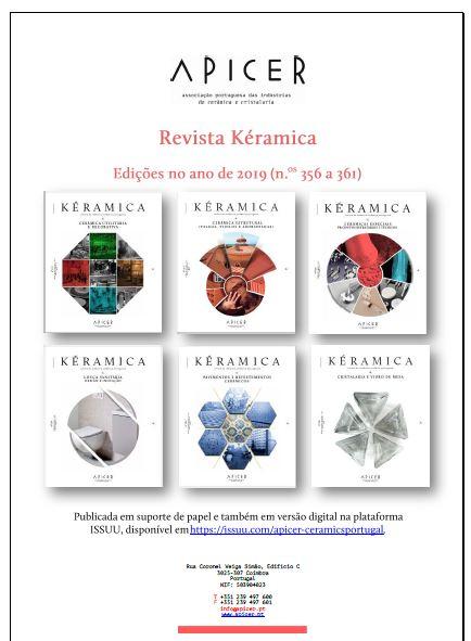 Índice Anual da Revista Kéramica em 2019 , Índice Anual da Revista kéramica em 2019