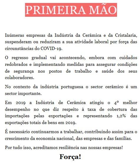 Newsletter Abril 2020 , COVID 19 – ALERTA: ERSE