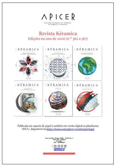 Índice Anual da Revista Kéramica em 2020 , Índice Anual da Revista Kéramica em 2020