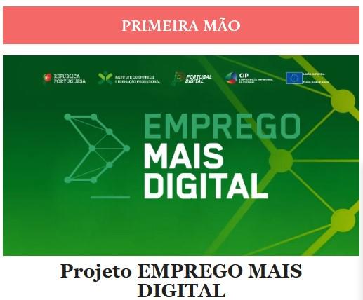 Newsletter Janeiro 2021 , Projeto Emprego Mais Digital