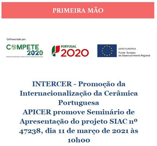 Newsletter Fevereiro 2021 , INTERCER - Promoção da Internacionalização da Cerâmica Portuguesa
