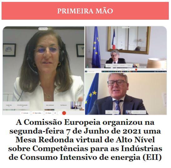 Newsletter Junho 2021 , Mesa Redonda virtual de Alto Nível sobre Competências para as Indústrias de Consumo Intensivo de Energia